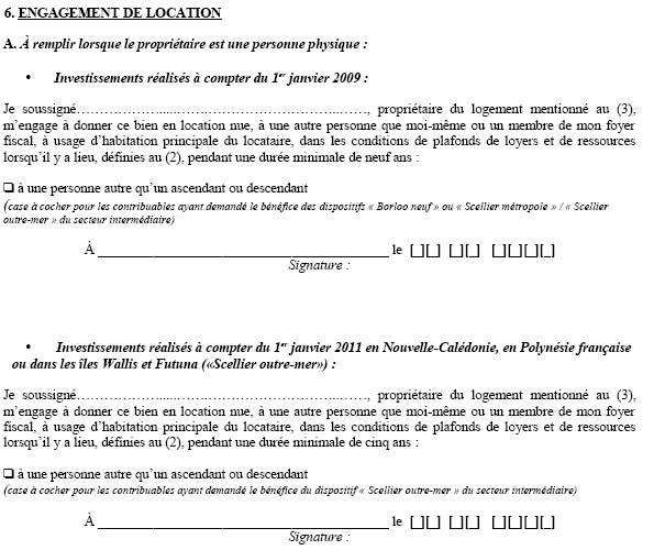 Loi scellier liste des formulaires pr voir netinvestissement - Declaration fiscale location meublee ...